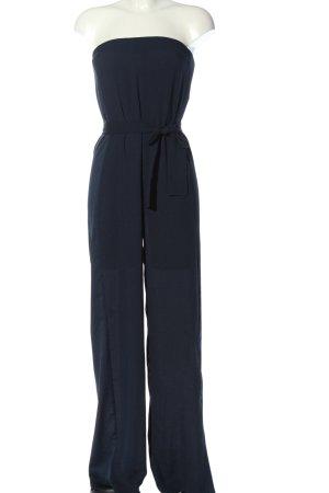Zara Basic Langer Jumpsuit blau Elegant
