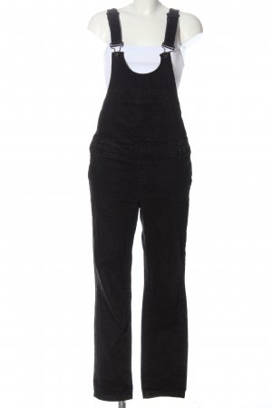 Zara Basic Vaquero tipo peto negro look casual