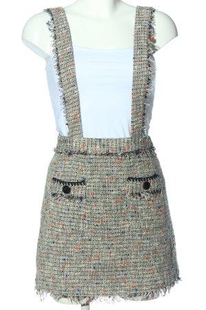 Zara Basic Spódnica ogrodniczka Melanżowy W stylu casual
