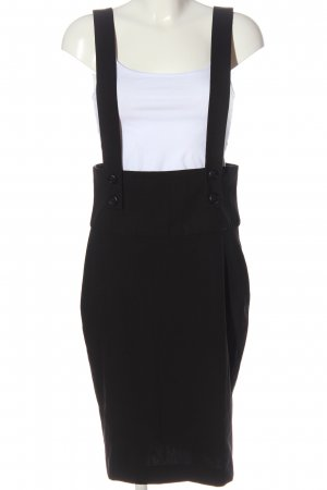 Zara Basic Pinafore Overall Skirt black casual look