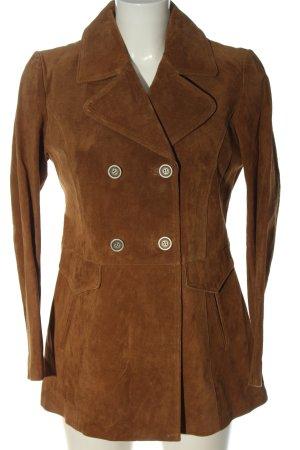 Zara Basic Blazer in pelle marrone stile casual