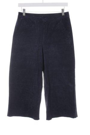 Zara Basic Lederhose dunkelblau Casual-Look