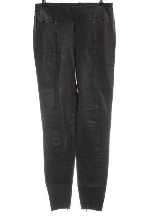 Zara Basic Pantalone in pelle nero stile casual