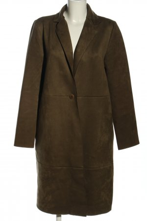 Zara Basic Manteau en cuir brun style décontracté