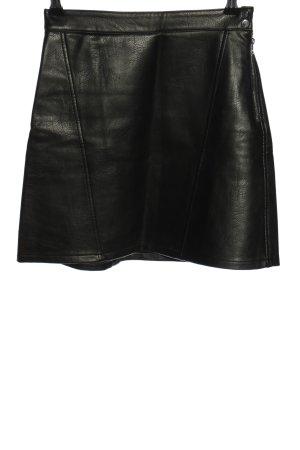 Zara Basic Jupe en cuir noir style décontracté
