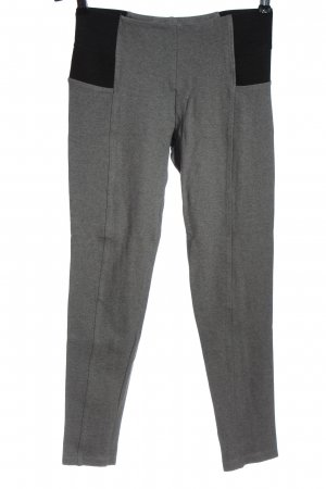 Zara Basic Leggings hellgrau-schwarz meliert Business-Look