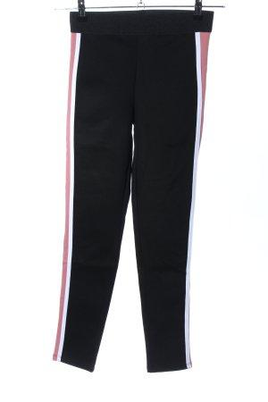 Zara Basic Leggings schwarz-weiß Casual-Look