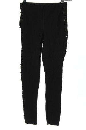 Zara Basic Leggings schwarz meliert extravaganter Stil