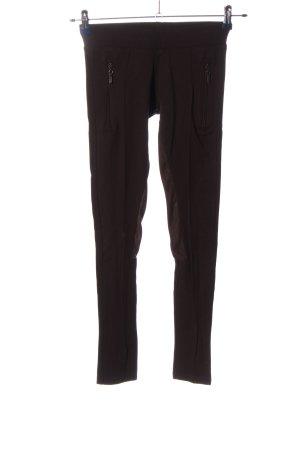 Zara Basic Leggings braun Casual-Look