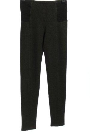 Zara Basic Leggings khaki meliert Casual-Look