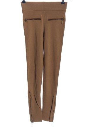 Zara Basic Leggings marrón look casual