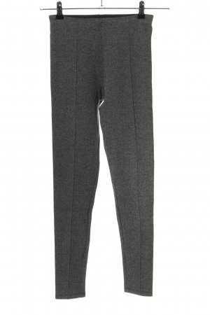 Zara Basic Leggings hellgrau meliert Business-Look