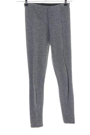 Zara Basic Leggings hellgrau meliert Casual-Look
