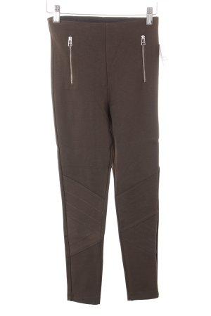 Zara Basic Leggings olivgrün Casual-Look