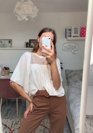 Zara Jersey de manga corta multicolor Algodón
