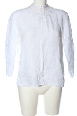 Zara Basic Blouse en lin blanc style décontracté