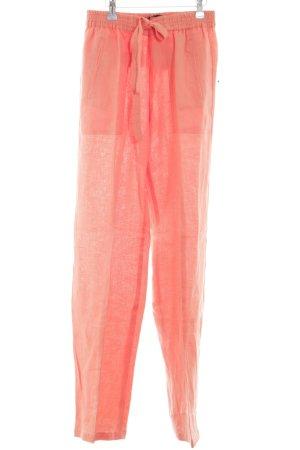 Zara Basic Leinenhose hellorange Casual-Look