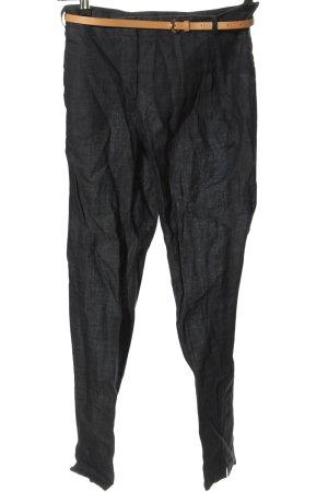 Zara Basic Pantalón de lino negro look casual