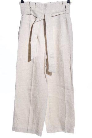 Zara Basic Leinenhose wollweiß Casual-Look