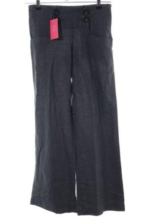 Zara Basic Leinenhose schwarz Casual-Look