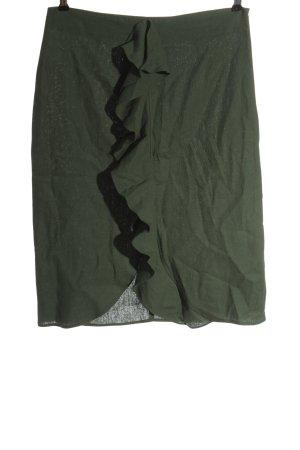 Zara Basic Linen Skirt khaki casual look