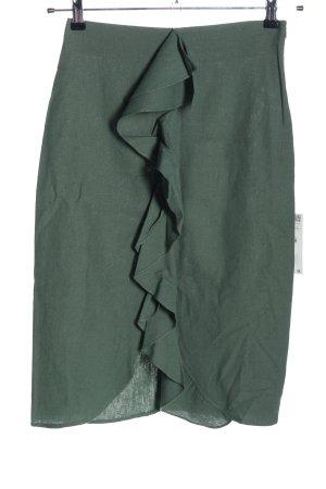 Zara Basic Gonna in lino cachi stile casual
