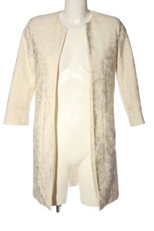 Zara Basic Long-Blazer creme Blumenmuster Elegant