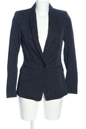Zara Basic Long-Blazer schwarz Allover-Druck Elegant