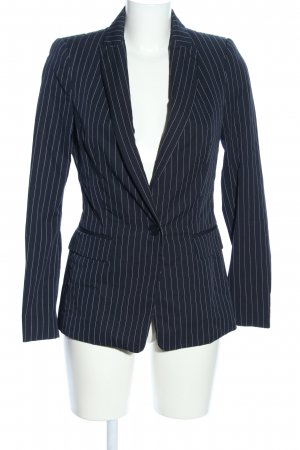 Zara Basic Long Blazer black allover print elegant