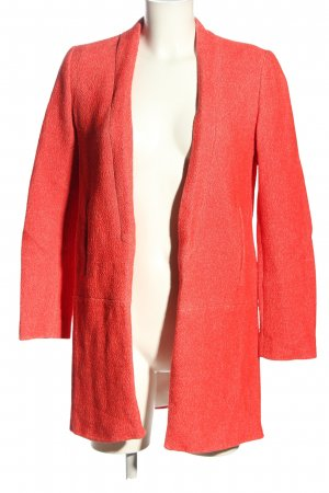 Zara Basic Long-Blazer hellorange Casual-Look