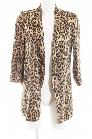 Zara Basic Long-Blazer Animalmuster extravaganter Stil