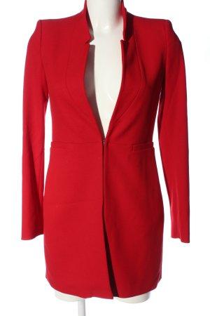 Zara Basic Lange blazer rood zakelijke stijl