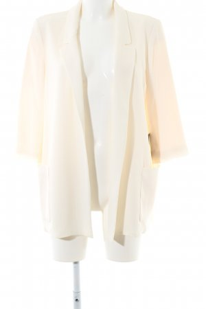 Zara Basic Long-Blazer creme Business-Look
