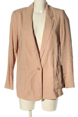 Zara Basic Long-Blazer nude Business-Look