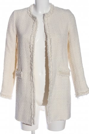 Zara Basic Cappotto corto bianco stile casual