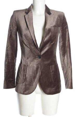 Zara Basic Long-Blazer braun Business-Look