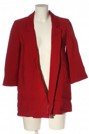 Zara Basic Long-Blazer rot Casual-Look