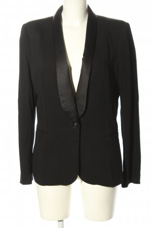 Zara Basic Long-Blazer schwarz Casual-Look