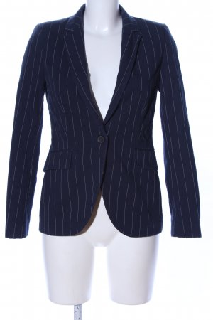 Zara Basic Long-Blazer blau Allover-Druck Business-Look