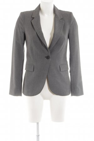 Zara Basic Long-Blazer hellgrau meliert Business-Look