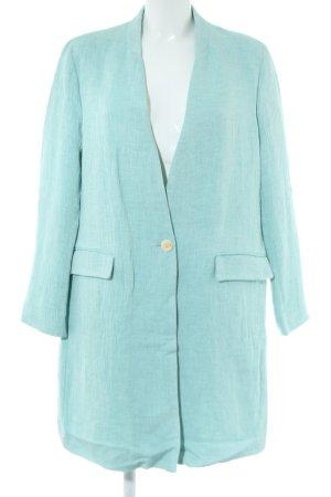 Zara Basic Long-Blazer türkis Casual-Look