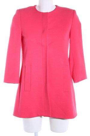 Zara Basic Long-Blazer pink Business-Look