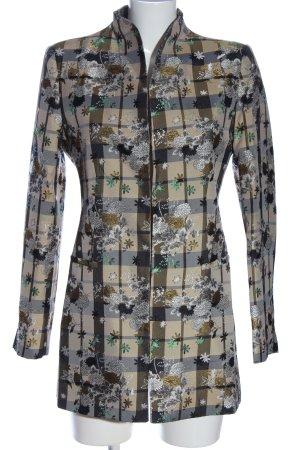 Zara Basic Long-Blazer Allover-Druck Elegant