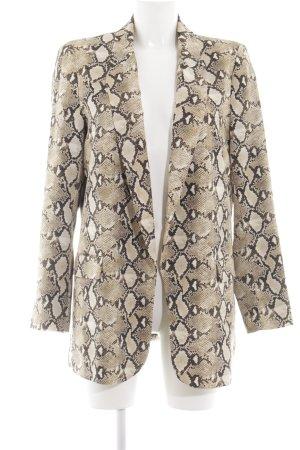 Zara Basic Long-Blazer Animalmuster Business-Look