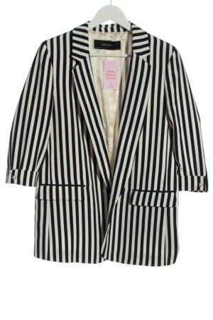 Zara Basic Long-Blazer schwarz-weiß Streifenmuster Casual-Look