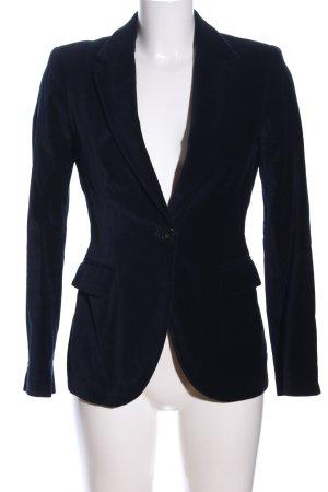Zara Basic Long-Blazer blau Business-Look
