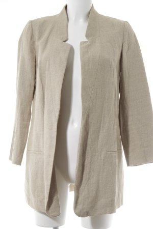 Zara Basic Long-Blazer beige-camel klassischer Stil