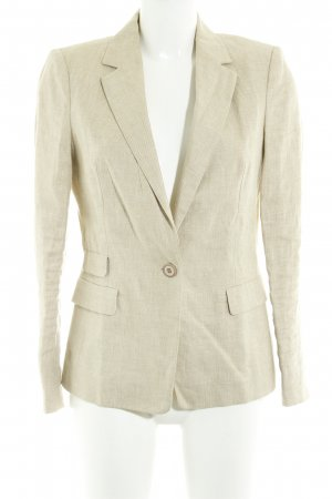 Zara Basic Long-Blazer beige Casual-Look