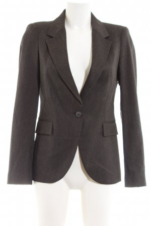 Zara Basic Long-Blazer braun Allover-Druck Business-Look