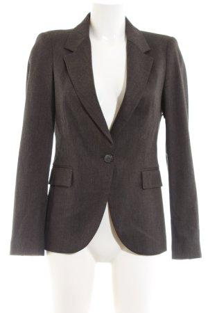 Zara Basic Long-Blazer braun Allover-Druck Business-Look